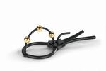 Mystim Pearly Pete Corona straps met gouden balletjes