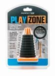 Play zone kit met 9 verschillende maten cockring, zwart
