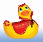 I Rub my Duckie badeend vibrator - duiveltjes rood